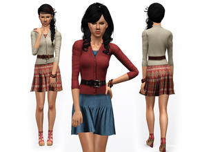Sims 3 — Set Fire To The Rain Outfit by ernhn — Set Fire To The Rain Outfit 3 recolorable parts Comes with 2 varitions