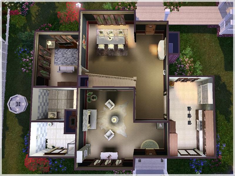 Чертеж дома в симс 4 внутри и снаружи