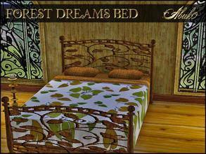 Sims 3 — FOREST DREAMS BED by abuk0 — FOREST DREAMS BED by abuk0
