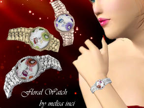 Sims 3 — Floral Watch by melisa_inci — Floral Watch by melisa inci One Recolorable Part Accessories