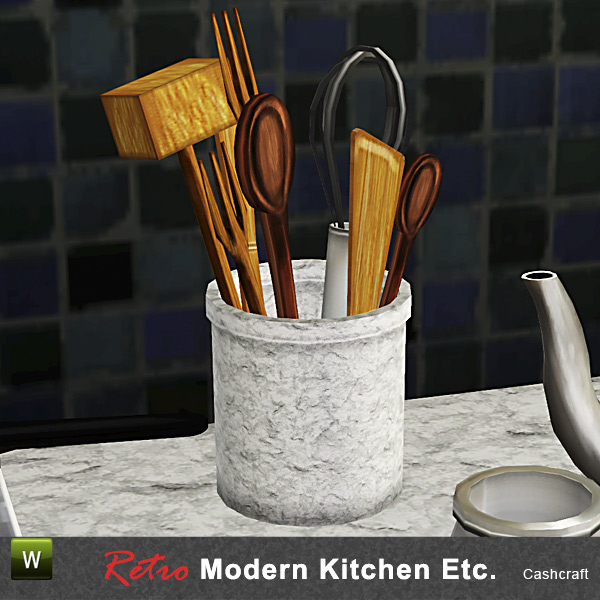 Cashcraft 39 s retro modern kitchen utensils for Modern kitchen utensil