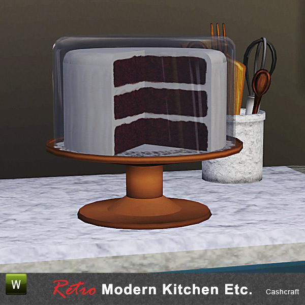 Modern Kitchen Plates: Cashcraft's Retro Modern Kitchen Cake Plate