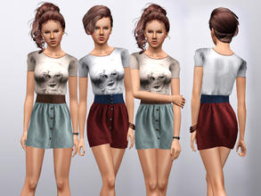 Sims 3 — Constant Craving Outfit by ernhn — Constant Craving Outfit *4 recolorable parts *Comes with 2 varitions *Custom