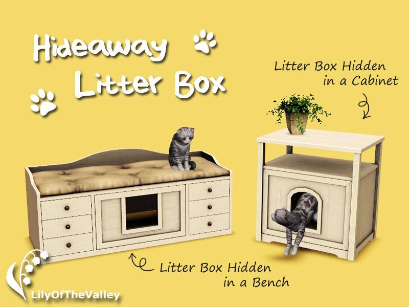 Sims  Cats Kitty Litter