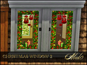 Sims 3 — CHRISTMAS WINDOW 2 by abuk0 — CHRISTMAS WINDOW 2 by abuk0