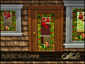 Sims 3 — CHRISTMAS DOOR  by abuk0 — CHRISTMAS DOOR by abuk0