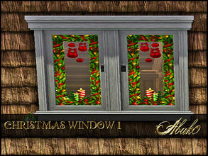 Sims 3 — CHRISTMAS WINDOW 1 by abuk0 — CHRISTMAS WINDOW 1 by abuk0