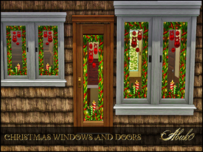 Sims 3 — CHRISTMAS WINDOWS AND DOORS by abuk0 — give your sims house a christmas feeling with this windows and