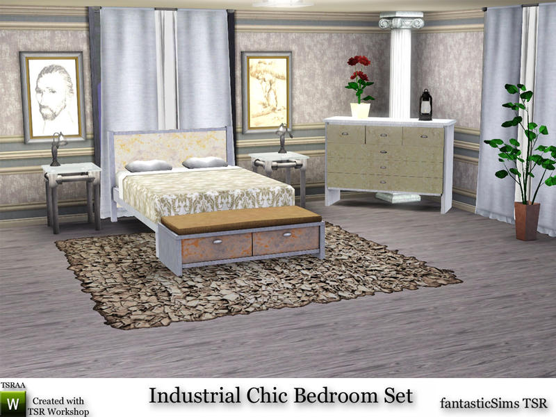 Fantasticsims 39 Industrial Chic Bedroom Set