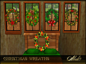 Sims 3 — CHRISTMAS WREATHS by abuk0 — some christmas decor for your sims.........garlands coming soon (i hope;-) you can