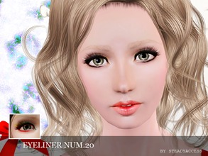 Sims 3 — Eyeliner Num.20  by steadyaccess — 3 color eyeliner for everyday, simple look! For females from teen to elder.