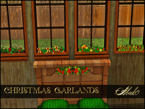 Sims 3 — CHRISTMAS GARLANDS by abuk0 — nice christmas garlands for your windows.........and ........like always