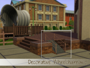 Sims 3 — Wheelchairramp (deco) by Angela — Decorative Only! Wheelchairramp (requested) Made by Angela@TSR (2011) Please