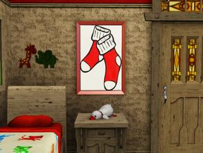 Sims 3 — Dots Red Socks by spitzmagic — A pair of red socks. Guaranteed one won't get lost in the wash :) Merry Christmas