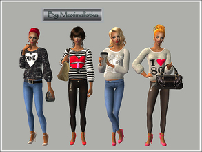 Sims 2 — MXM My December Collection by MAXImalistka — Four everyday outfits for adult females :) Enjoy!