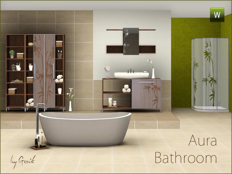 Gosik 39 s aura bathroom for Bathroom ideas sims 3