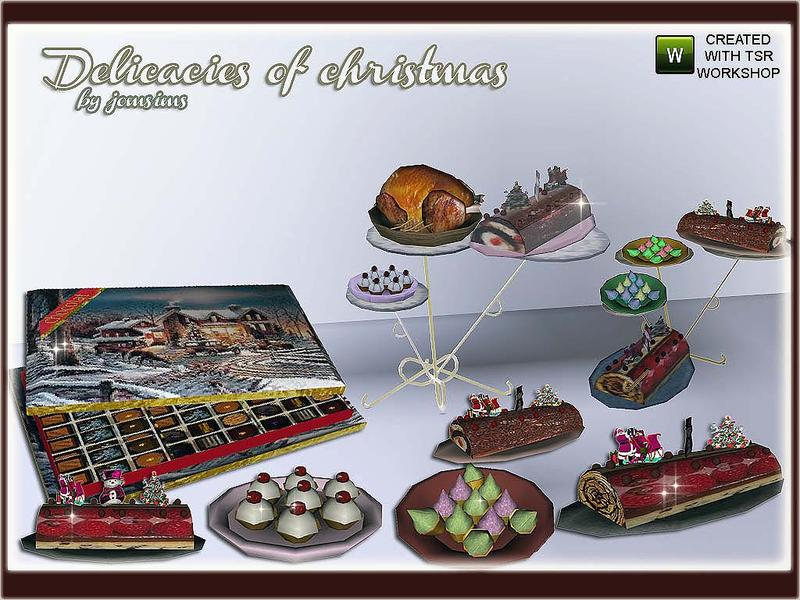 jomsims  christmas 1 delicacies cake
