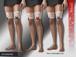 Sims 3 — Ribbon stockings by Birba32 — Perfect for Christmas holidays, 3 recolorable areas.