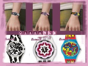 Sims 3 — 3 Swatch watches by lurania — Swatch watches for teen,young,adult and elder female. They appear under the