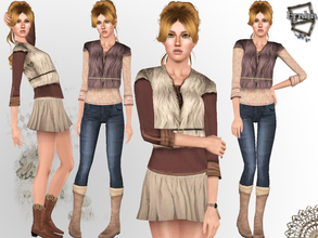 Sims 3 — Extraordinary Christmas Look Set~ by ernhn — *Fur Coat with Shirt *Warm Winter Mini Skirt *Warm Winter Skinny