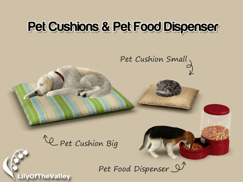 Lilyofthevalley S Pet Cushions And Food Dispenser