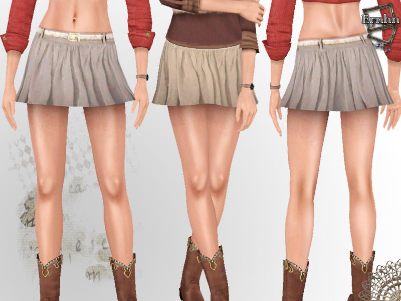 Ernhn S Warm Winter Mini Skirt