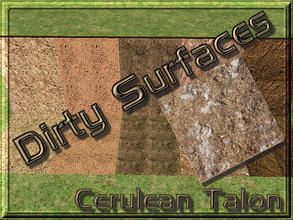 Sims 2 — Dirty Surfaces - 4 by Cerulean Talon — Dirty surfaces that will make a wonderful environmental extension to your