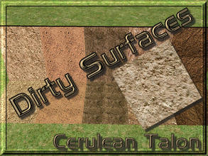 Sims 2 — Dirty Surfaces - 5 by Cerulean Talon — Dirty surfaces that will make a wonderful environmental extension to your