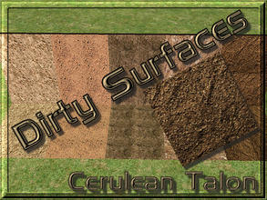 Sims 2 — Dirty Surfaces - 1 by Cerulean Talon — Dirty surfaces that will make a wonderful environmental extension to your