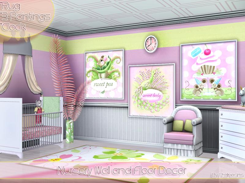 Pralinesims nursery wall and floor decor
