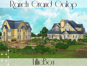 Sims 3 — Ranch Grand Galop by lilliebou — Hi ! This ranch is for a family of about 5 Sims, 1 dog/cat and 2 horses. First