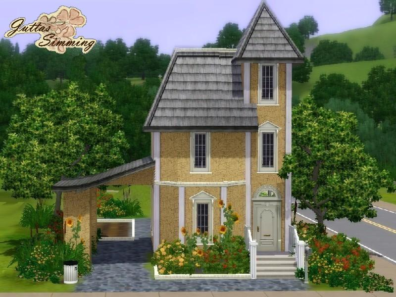Juttaponath 39 s tiny victorian starter home for Sims 3 houses plans
