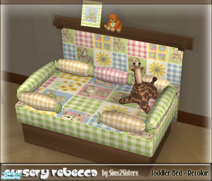 Sims2sisters Toddler Bed Recolor