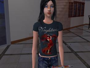 Sims 2 — Nightwish fan shirt by Silerna — Old shirt I once made.Top for your teen sims.
