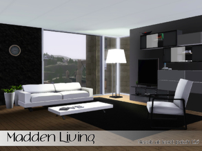Sims 3 — Madden Living by Angela — Madden Living, made as a request for Madden Pro. Set contains: Loveseat, Chair,
