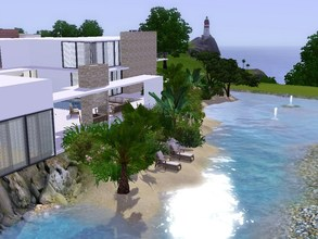 Sims 3 — Sunrise Avenue 127 by sinhhala — A modern residence, water surrounded. Ground floor: kitchen, diningroom,
