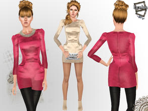 Sims 3 — Madame Dress by ernhn — Madame Dress 1 recolorable parts Comes with 2 varitions Custom mesh by Ernhn