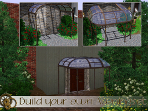 Sims 3 — Build your own awning set by Angela — Now you can build your own awning set, made out of glass and metal this