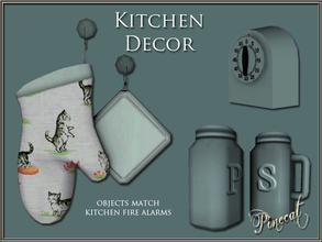 Sims 3 —  Decorative Kitchen Objects by Pinecat — Little extras to add a homey feel to your kitchens! Objects match