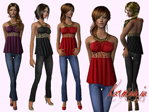 Sims 2 — Favorite ~ Babydoll and Jean Set by Harmonia — 3 attractive colors