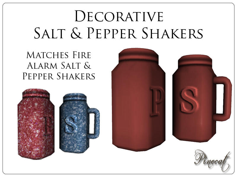 Pinecat 39 S Decorative Salt 39 N Pepper Shakers