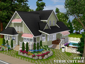 Sims 3 — Verde Cottage -Furnished- by ayyuff — 20x20 Fully furnished and decorated house with 2 bedrooms,2 baths.