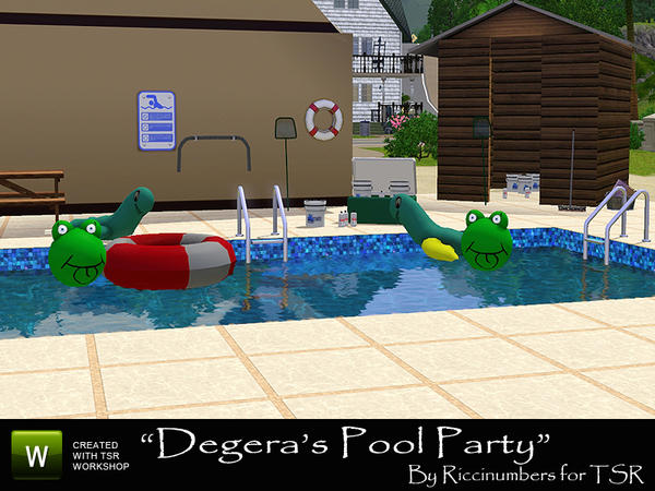 Thenumberswoman 39 s degeras pool party for Pool design sims 3