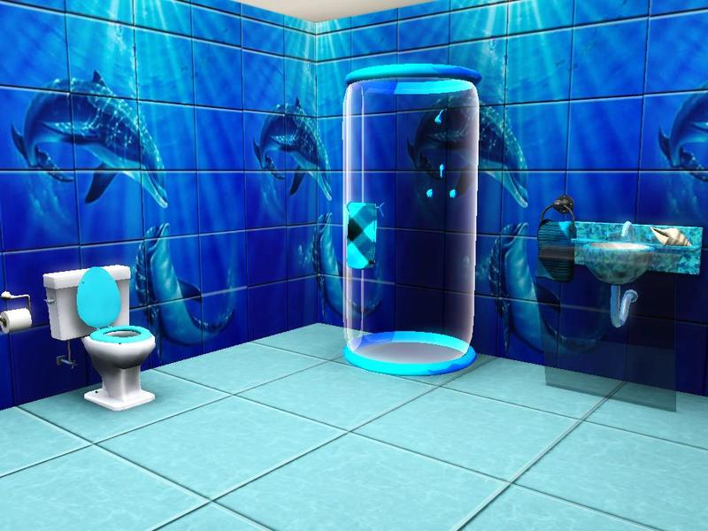 Rennara's Dolphin Mural Bathroom Tiles