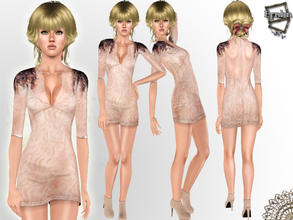Sims 3 — Fashionista Cocktail Dress  by ernhn — Fashionista Cocktail Dress Cannot recolor Comes with 1 varition