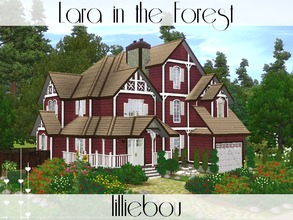 Sims 3 — Lara in the Forest by lilliebou — This house is for a family of 5 to 7 Sims. First floor: -Kitchen + Dining room