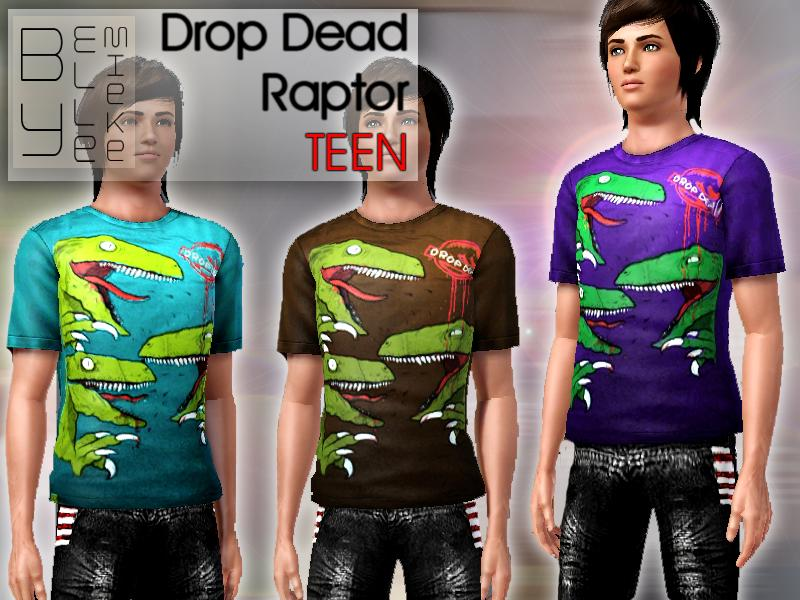 Ellemieke's Drop Dead Raptor - Teen Drop Dead Clothing History