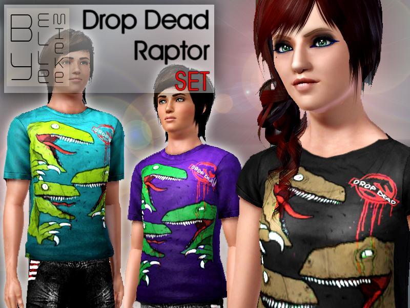 Ellemieke's Drop Dead Raptor SET: Teen-Adult Drop Dead Clothing History