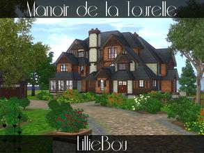 Sims 3 — Manoir de la Tourelle by lilliebou — Hi ! This is a very big mansion for a family of about 7 Sims. You can