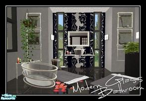 Sims 2 — Modern Glass Bathroom by Angela — Here is my modern glass bathroom for you all, Set is made out off Glass and
